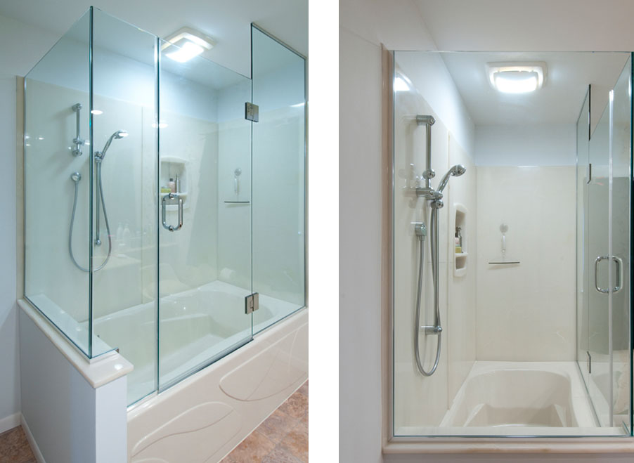 Shower update dave fox for Bathroom remodel under 10000