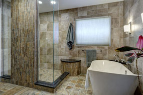 Photo gallery dave fox for Master bathroom expansion