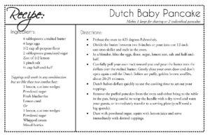 Dutch Baby Pancakes Recipe