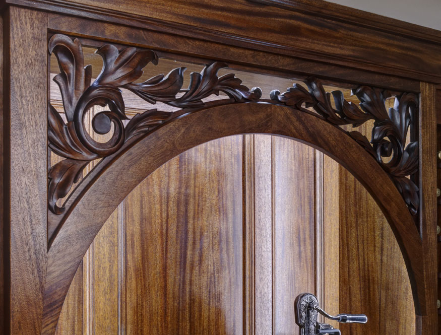 Wine Cellar Carved Arch