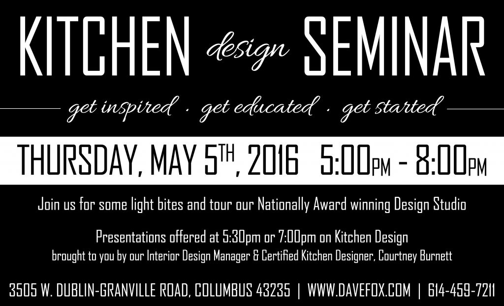Kitchen Seminar 5.5.16 - 2