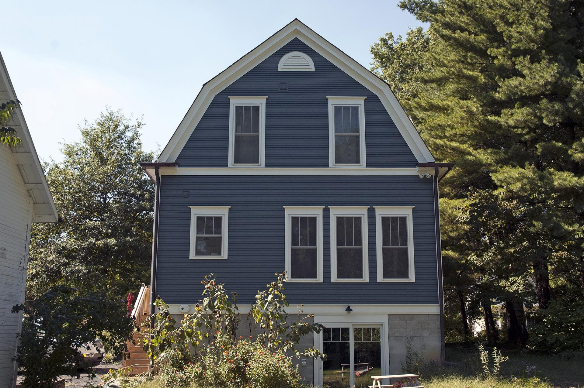 Room Addition, Exterior, Worthington, Dave Fox, Remodel, Blue, farm house