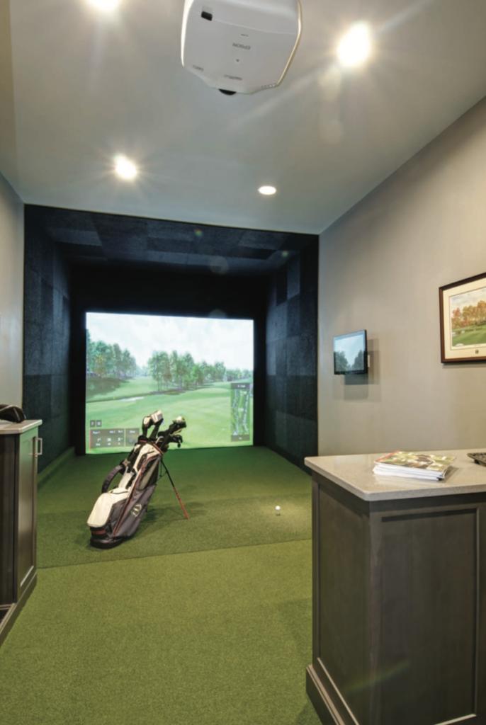 garage renovation home golf simulator ohio