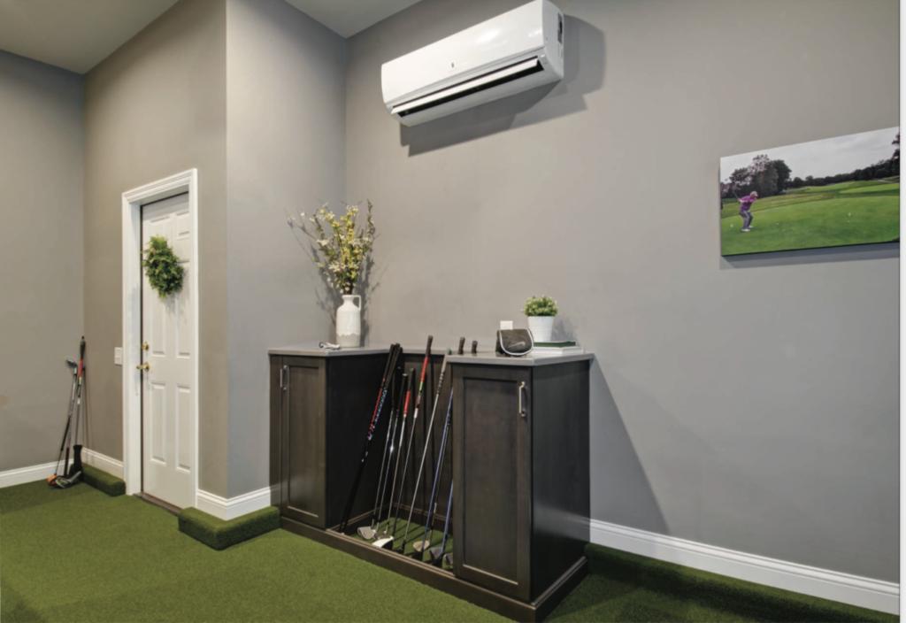 home golf simulator room addition