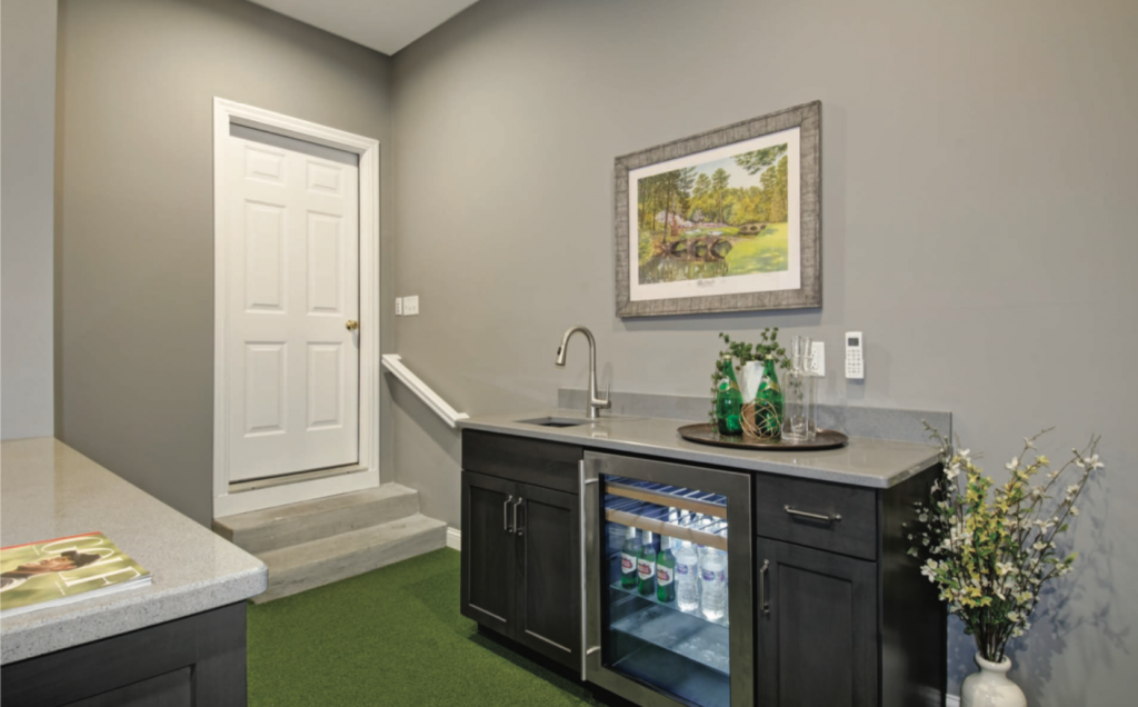 ohio home golf simulator room addition